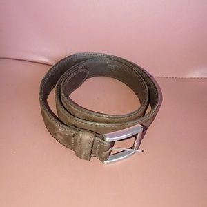 "Men's belt 34 brown leather 1"" 3/8 wide Structure"